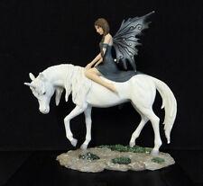 Beautiful ''NEMISIS NOW'' Fairy Riding Unicorn Ornament Figure NEW WITH BOX
