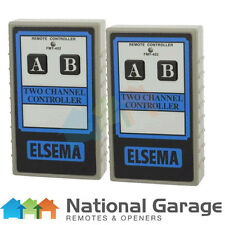 Elsema FMT402 Garage Door Remote 2 Button Transmitter, 10 Dipswitches FMT402 x2