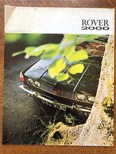 ROVER 2000 TC UK Market Sales Brochure, 1968