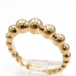 Van Cleef & Arpels Perlee Couleurs Pearls Of 18K Yellow Gold Ring Size 7.5 LJI2