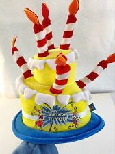 Cat in The Hat-Hat for an Adult or Child with 7 candles on a 2 Layer Cake