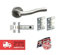 'Stacey' Stainless Steel Lever on Rose Internal Door Handle - Latch Packs (LH)