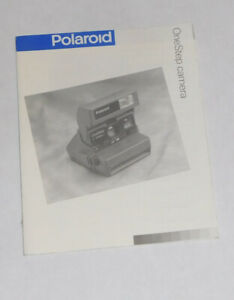 Original Polaroid One Step Owners Manual. FREE SHIPPING