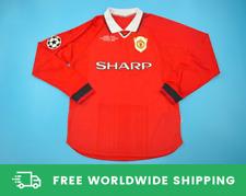 Manchester United 1999 CL Final Long-Sl. Jersey Kit Shirt Beckham Sizes S-XXL
