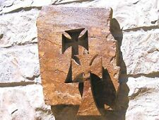 Carved Rock Wall Cross, Flagstone 44