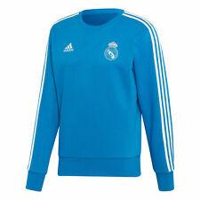 Real Madrid Training Sweat Top Long Sleeve Football Blue Mens adidas
