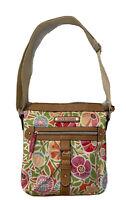 LILY BLOOM Floral Crossbody Purse Handbag 3 Section Eco Friendly Vegan Bag