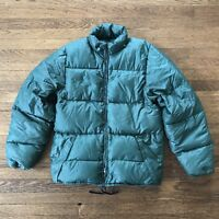 Goose down puffer Vintage Frostline Kit  Coat Parka Jacket Green 1970s Small
