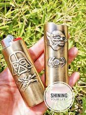 Star Wars Yoda, Darth Vader, Bic Lighter Standard Size J6 Handmade In Gold