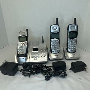 VTech 5.8 GHz Cordless Phone - 3 Handsets - IA5877 -  with Answering System