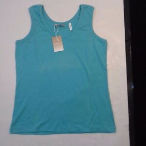 MENS ANTHOLOGY WHITE AND SPEARMINT VESTS 100% COTTON TANK TOPS ( Packs of 3 )