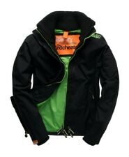 Men's Small Superdry black and green Windcheater (used but as good as new)
