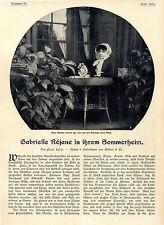 Paul Felix Gabrielle Réjane in ihrem Sommerheim Hennequeville b.Trouville v.1906