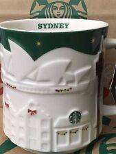 NEW Starbucks 2015 SYDNEY Australia Christmas Green relief 18 oz mug NEW!