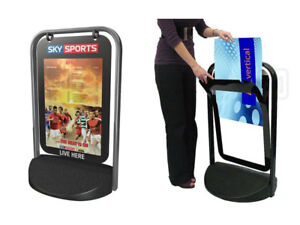 POSTER PAVEMENT SIGN - SWING SIGN POSTER HOLDER ONLY TO DISPLAY A3 SIZE POSTERS