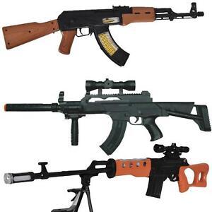 Kid Toy Military Gun Super Combat Rifle Flashing Light Vibration Realistic Sound