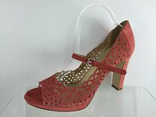 Marvin K. Womens Salmon Leather Heels 10