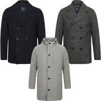 New Mens Tokyo Laundry Branded Wool Blend Peacoat Duffle Coat Size S - XXL