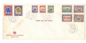 GREENLAND 1945 DEFS ( 9 ) USED ON FDC