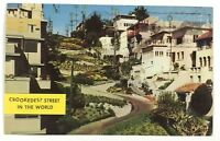 Postcard Crookedest Street In The World Lombard St San Francisco CA California