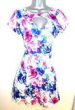 BNWOT Jameela Jamil Floral Print Heart Cut Tulle Evening Occasion Summer Dress 8
