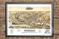 GIANT VINTAGE 1607 historic JOHN SMITH VIRGINIA MAP OLD ANTIQUE STYLE art print