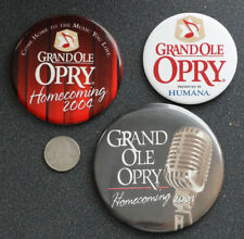 Lot of GRAND OLE OPRY Vintage PINBACK BUTTON Badge Pin NASHVILLE COUNTRY MUSIC