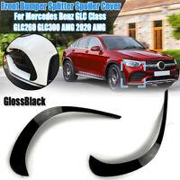 Paar Vorne Stoßstange Splitter Spoiler Seite Flügel ABS Glanz Für Benz GLC260