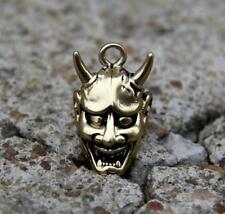 Solid Brass Evil Oni Noh Hannya Mask Pendant Keychain 般若 DIY L