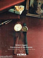 PUBLICITE ADVERTISING  016  1981  Yema  International montres Quartz 2