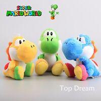 Super Mario Bros. YOSHI Plush Toy Soft Stuffed Animal Doll Figure Teddy 6'' Gift