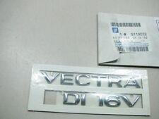 ORIGINAL OPEL VECTRA DI 16V CHROM Schriftzug 9119032 NEU