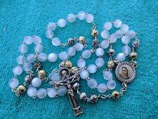 Holy Ghost Spirit Rosary From Medjugorje White Beads 0.65 mm + Bag