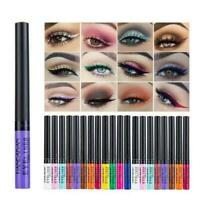 Matte Liquid Eyeliner Bright Color Waterproof Eye Line 12 Pcs Set A4Z7