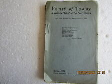 POETRY OF TODAY-ERSKINE MACDONALD-THE POETRY REVIEW-SPRING 1925