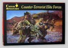 COUNTER-TERRORIST ELITE FORCES - 1/72 (25mm) Caesar Miniatures 30-Figure Kit NEW