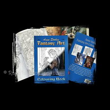ANNE STOKES Fantasy Art Colouring Book With Fairies Dragons Angels Unicorns