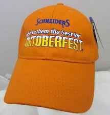 Schneiders Oktoberfest  baseball cap hat adjustable v