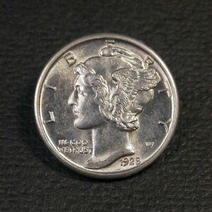 1928 Mercury Head Dime AU/UNC