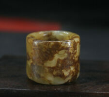 2.6CM China Antique Ring natural Old Jade Ring jewelry Jade Ring W2W3