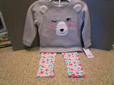 Carter'S 2 Pc Long Sleeve Sweatshirt Top w Leggings Girls Toddlers Size18M Nwt