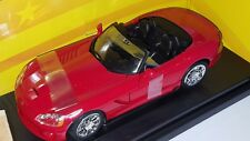 1/18 ERTL AMERICAN MUSCLE 2003 DODGE VIPER SRT-10 RED yd3