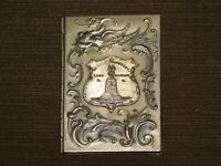 "VINTAGE 3"" X 2 1/8"" BATTLE MONUMENT LAKE GEORGE NY  MINI METAL COVER NOTE BOOK"