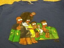 SIMPSONS-SOUTH AFRICAN FAMILY COUCH GAG New Blue Medium T-Shirt Black Sampsons M