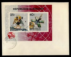DR WHO 1968 BURUNDI FDC PEACEFUL SPACE EXPLORATION S/S C238906