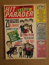 Hit Parader May 1966 Beatles Bob Dylan beach boys The Kinks animals Elvis