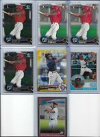 Victor Robles Nationals 2016 Rookie Lot of (7) w/ Bowman Chrome & Yellow Mint