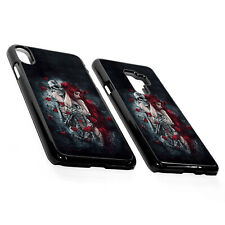 Gothic Red Hair Woman Girl Skull Skeleton Rose Hard Plastic Phone Case Cover