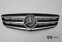 NEW GENUINE MERCEDES BENZ MB C CLASS W204 AMG FRONT GRILL BLACK CHROME