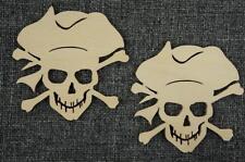 10 Stk Piratenkopf Korsar Totenkopf Schiff Dekoration Holz Basteln Bemalen /W51/